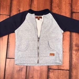 7 for all mankind zip up sweatshirt